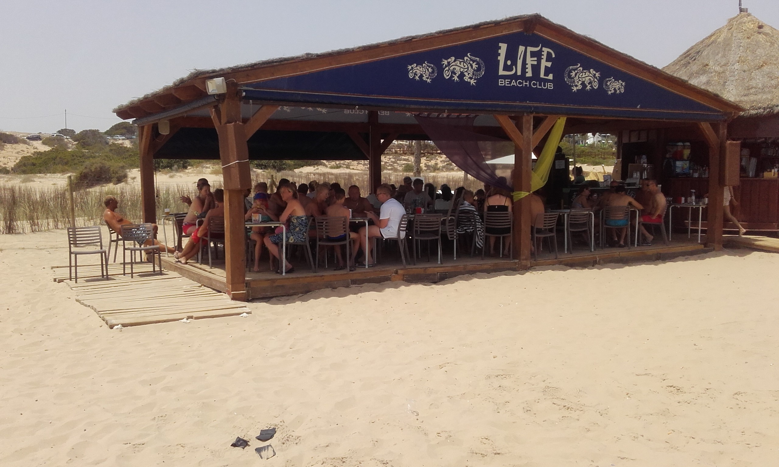 One of the beach bars